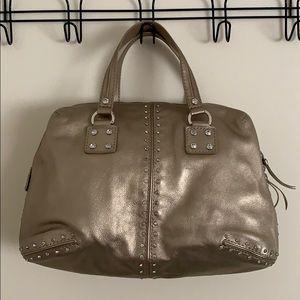 Michael Kors Gold Leather Astor Handbag